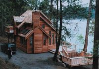 3 bedroom 2 bath cabin plan with sundeck 1235 sq ft Wood Cabin House Plan