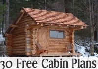 30 free cabin plans for diyers wood working small log Small Cabins To Build Yourself