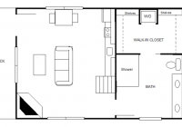 840 sq ft 20 x 30 cottage for two 20 X 20 House Floor Plans