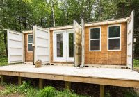 a canadian man built this off grid shipping container home Shipping Container Cabin