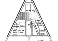 a frame cabin plan 36 feet high cabin in 2021 a frame A Frame Cabin Plans With Loft