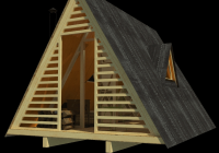 a frame shed plans lily A Frame Cabin Plans With Loft