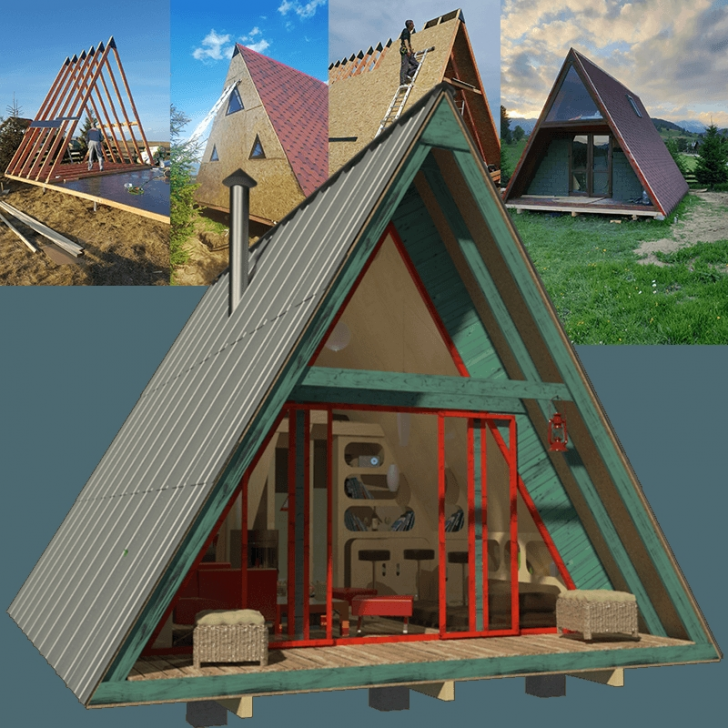 Permalink to Minimalist A Frame Cabin Plans With Loft