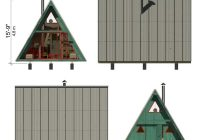 a frame tiny house plans alexis A Frame Cabin With Loft Plans