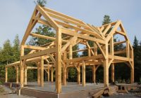 a timber frame house for a cold climate part 1 Simple Timber Frame House Plans