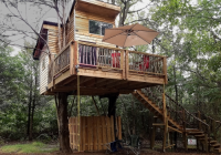 actual treehouse with queen full beds lake eufaula Lake Eufaula Cabins