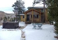 back of wilderness cabin near fire pit picture of pikes Pikes Peak Cabins