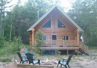 beautiful log cabin nestled in the hiawatha national forest located in the up au train National Forest Cabins