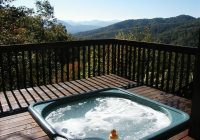 beautiful log cabin private setting wifi hot tub awesome views bryson city Cabin With Hot Tub