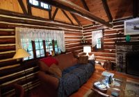 bushkill pristine waterfront log cabin with private beach Bushkill Falls Cabins