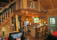 cabin 3 kitchen from tv area picture of grumpsters Grumpsters Log Cabins