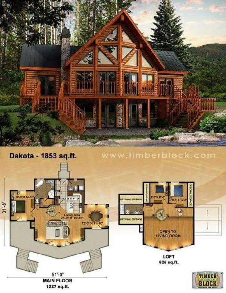 Permalink to 11 Log Cabin House Architectural Design And Floorplans Gallery