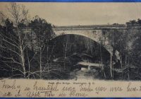 cabin john bridge washington dc 1909 antique postcard Cabin John Bridge