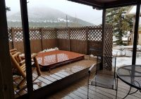 cabin9 private hot tub on deck picture of lazy r cottages Estes Park Cabins With Hot Tubs
