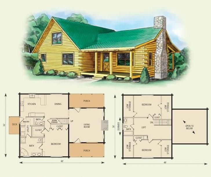 Permalink to Elegant Bedroom Log Cabin Plans Ideas