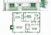 chickamauga 2 bed 15 bath 1 story 1200 sq ft Log Cabin Story Floor Plans