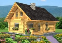 Cool log cabin plans 2 bdr log ranchers package plans bc 10 2 Bedroom Log Cabin With Loft Ideas