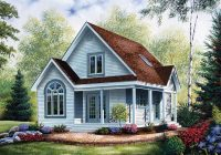 country style house plan 64983 with 2 bed 2 bath Country Cabin Plans