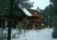 cozy cabin in the white mountains of arizona sits on one acre of land overgaard Cabins In White Mountains Az
