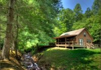 creekside cabins near bryson city and cherokee in smoky Log Cabins For Rent In Nc Mountains