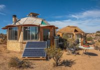 dragonfly desert retreat offers complete off grid living Solar Panel Retreat Cabin