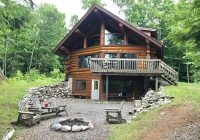 eco friendly authentic log cabin on secluded lake and 120 acres park falls Pet Friendly Cabins In Wisconsin