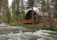 fish off the back porch picture perfect red river cabin on the river red river Cabins In Red River Nm