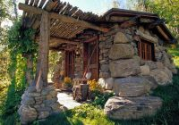 fishing cabin stone cabin tiny house swoon house Small Stone Cabin