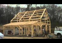 five month time lapse post and beam barn in lyme Post And Beam Cabin