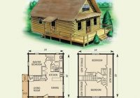 free small cabin plans Small Cabin With Loft Floor Plans