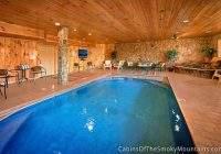 gatlinburg cabins with indoor swimming pools Gatlinburg Cabin With Pool