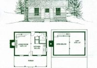 gorgeous small log cabin floor plans with loft free small Small Cabin Blueprints