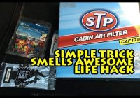 how to make your car smell good simple trick life hack Scented Cabin Air Filter