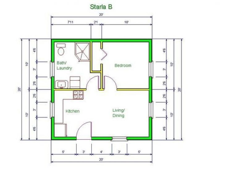 Permalink to Elegant 20 X 20 House Floor Plans  Ideas