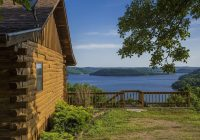 lake shore cabin on beaver lake with boat dock swim deck Lake Shore Cabins On Beaver Lake