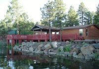 lakefront cabin on rainbow lake with 4 boats and a 36 foot private pier lakeside Pinetop Lakeside Cabins
