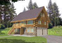 leverette raised log cabin home plan 088d 0048 house plans Wood Cabin House Plan
