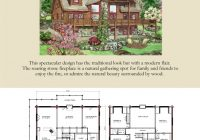 lodge log and timber floor plans for timber log homes Wood Cabin House Plan