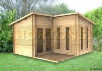 log cabin 4×4 alton l shaped cabin 28mm logs available L Shaped Garden Log Cabin