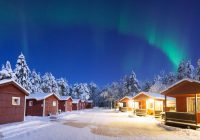 log cabin holidays and winter cottages in lapland Night Log Cabin Breaks