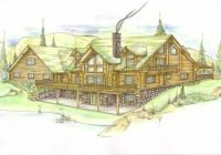 log cabin house plan 6 bedrooms 4 bath 3670 sq ft plan Log Cabin Bedroom Plans