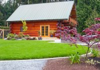 log cabin lake rustic landscape seattle Cabin Landscaping