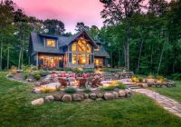 log cabin landscape ideas bossliving Cabin Landscaping Ideas