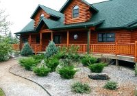 log cabin landscape ideas landscaping bossliving Cabin Landscaping Ideas