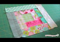 log cabin quilt block tutorial Log Cabin Quilt Tutorial