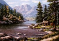 log cabin retreat sung kim mountains lake in 2020 Mountain River Cabins