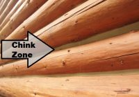 log home chinking important information Traditional Log Cabin Chinking
