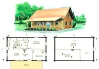 log home plans with 2 living areas mineralpvp 2 Bedroom Cabin With Loft Plans