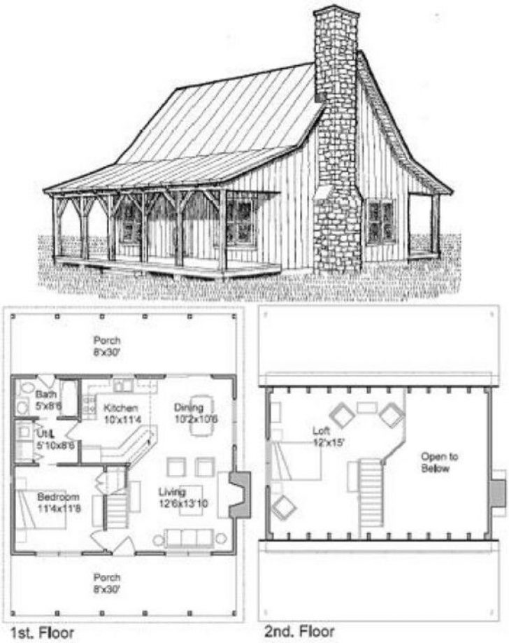 Permalink to Small Cabin Plans With Loft And Porch
