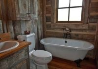 love this rustic cabin bathroom make mine rustic rustic Log Cabin Bathroom Ideas